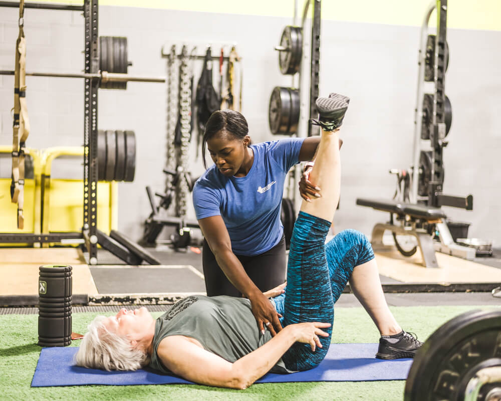 tamara in a fitness consultation in Calgary